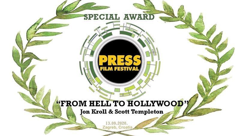 From Hell to Hollywood Documentary - Film Festival Award
